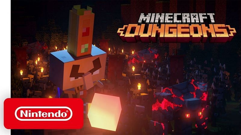 Minecraft Dungeons is beschikbaar op de meeste gameplatforms zoals Switch (Afbeelding via Nintendo)