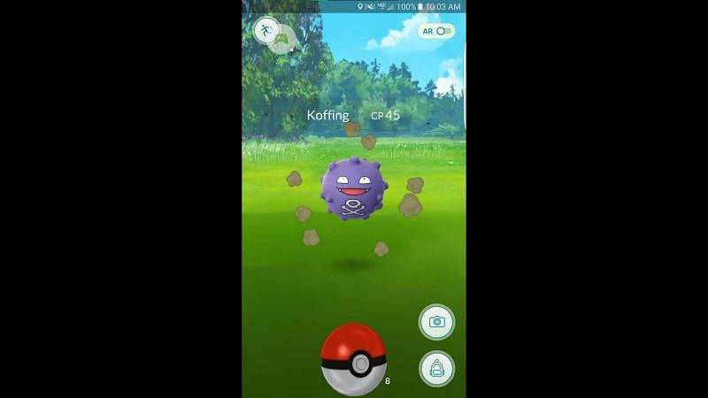 Koffing is somewhat more vulnerable in Pokemon GO, opening up counterplay options (Image via Niantic)