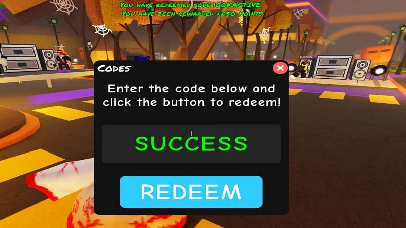 Punch in the right code for a reward. (Image via Roblox)
