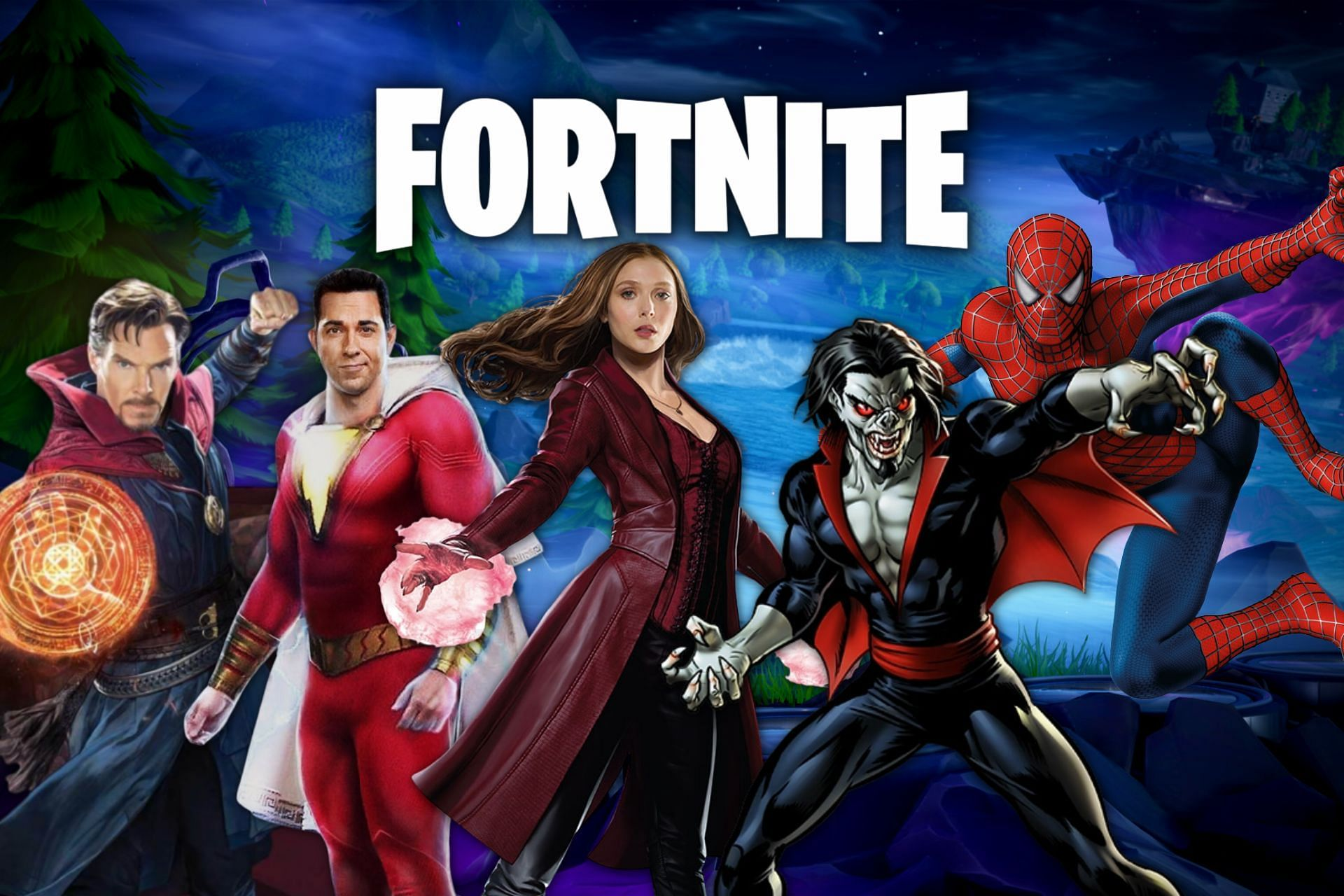 Possible Fortnite superhero collaborations (Image via Sportskeeda)