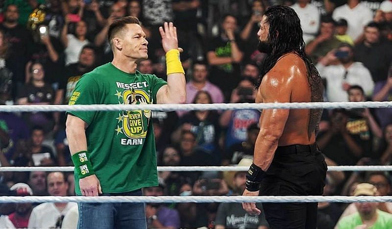 John Cena confronts Roman Reigns at Money in the Bank
