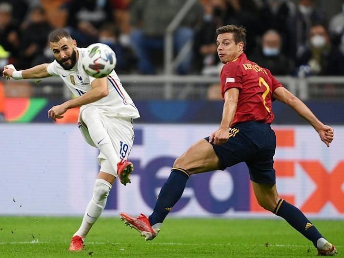 Karim Benzema scored a screamer against Spain.