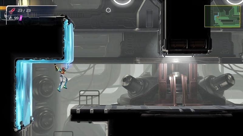 Samus si sta muovendo attraverso il Metroid Dread.  (Immagine tramite Nintendo)