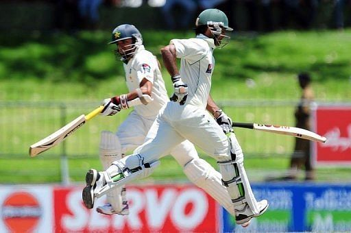 Pakistan wiped out the 111-run deficit in the first innings to reach 119-2 in their second knock by lunch