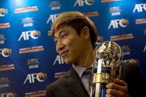 Asian Football Confederation (AFC) Player of the Year winner Lee Keun-ho
