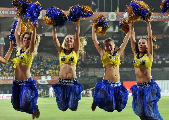 Chennai Super Kings cheer leaders celebr