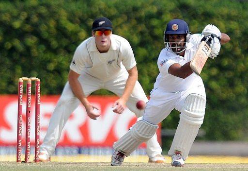 Wicket-keeper Prasanna Jayawardene scored 71 as Sri Lanka closed their innings at 396 for six