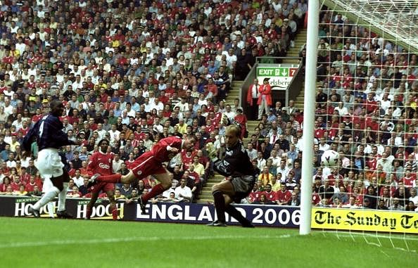 Carragher scored twice at the wrong end against Manchester United in 1999!