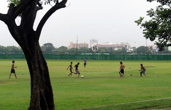 Indian youth belonging to a local club p