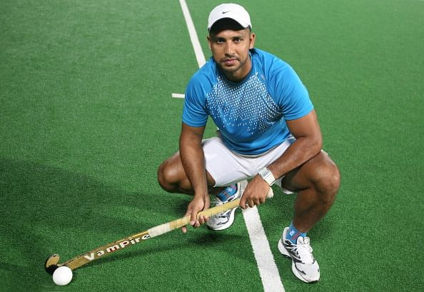 NEW DELHI, INDIA ?OCTOBER 28: Hockey Player Jugraj Singh poses for a photo shoot in New Delhi on October 28, 2010.