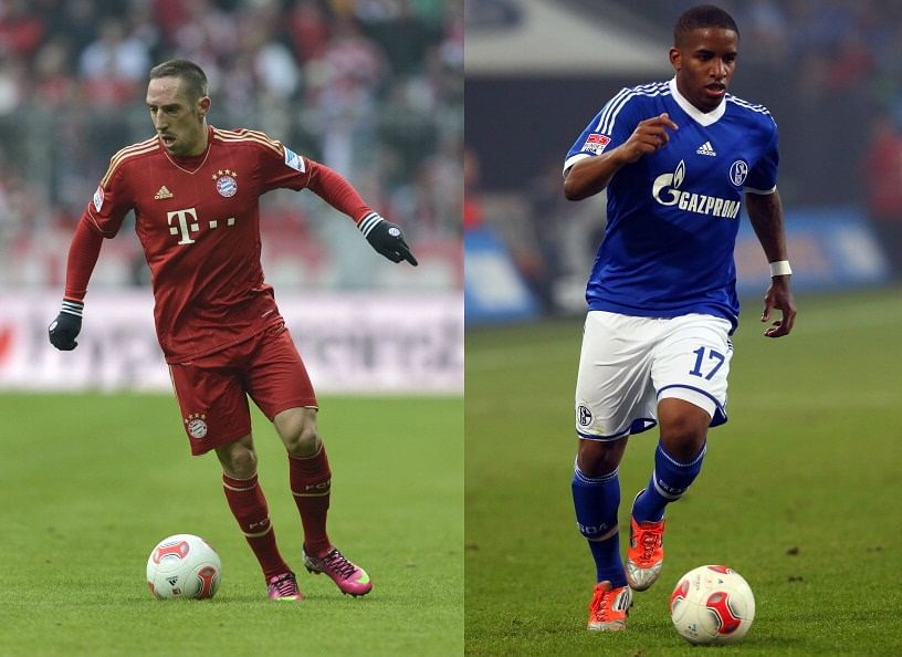 Two very crucial players for their respective teams. Frank Ribery and Jefferson Farfan