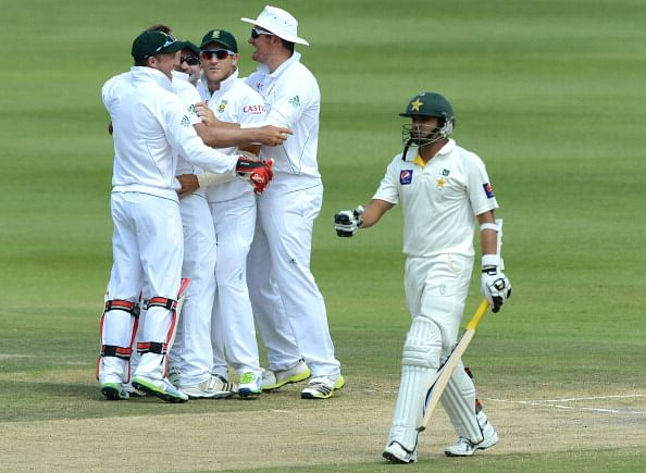 JOHANNESBURG, SOUTH AFRICA - FEBRUARY 03:  Azhar Ali of Pakistan walks off for 18 runs during day 3 of the 1st Test match between South Africa and Pakistan at Bidvest Wanderers Stadium on February 03, 2013 in Johannesburg, South Africa.