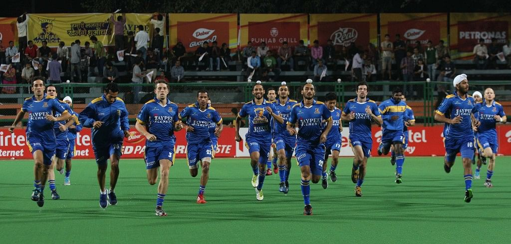 JPW Warm Up session before the match against MM on 31-01-2013 at Mumbai Stadium.