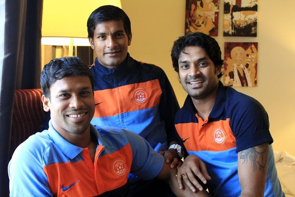 (left to right) Sandip Nandy, Subrata Pal, Subhasish Roychowdhury.