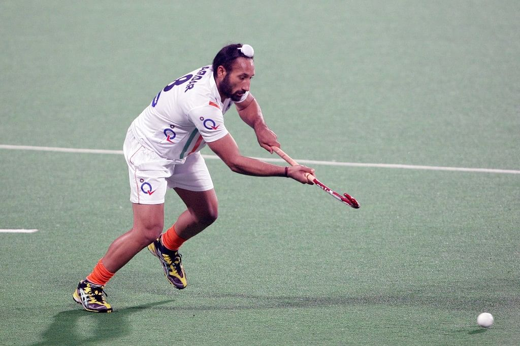 Hero Hockey World League 2013 Indian team during the warm up session at Delhi on 20th Feb 2013 (14)