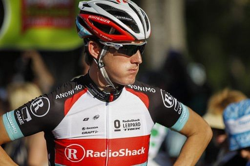 Andy Schleck is seen prior to the Tour Down Under in Adelaide on January 20, 2013