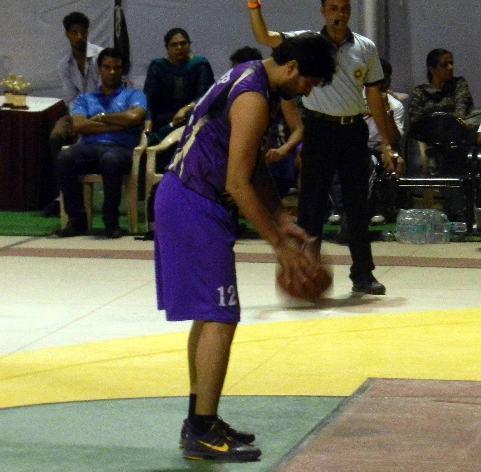 Trideep Rai former captain of Indian Basketball team.