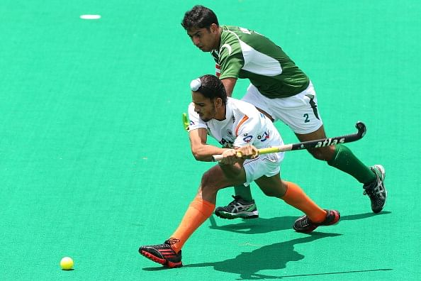 Akashdeep Singh latched onto the rebound from the goalkeeper to