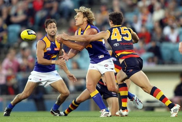A game of Australian Rules Football