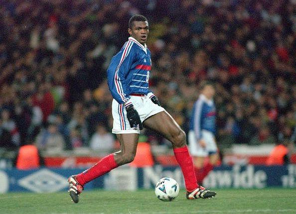Football. 1999 International Friendly. Wembley. 10th February, 1999. England 0 v France 2. France