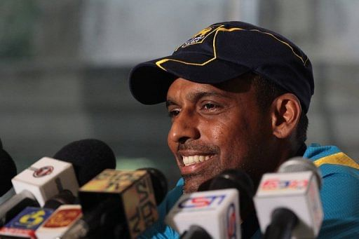Thilan Samaraweera speaks during a press conference in Colombo on March 6, 2013