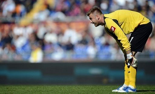 Southampton goalkeeper Artur Boruc, pictured in action on April 25, 2012
