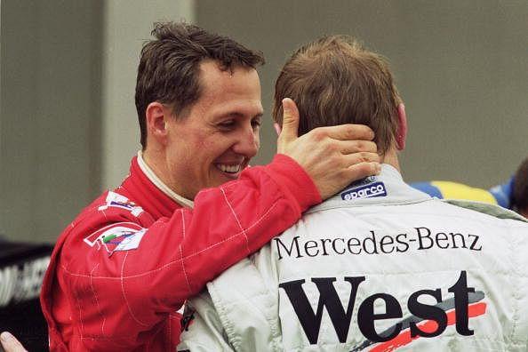 Mika Hakkinen and Schumacher