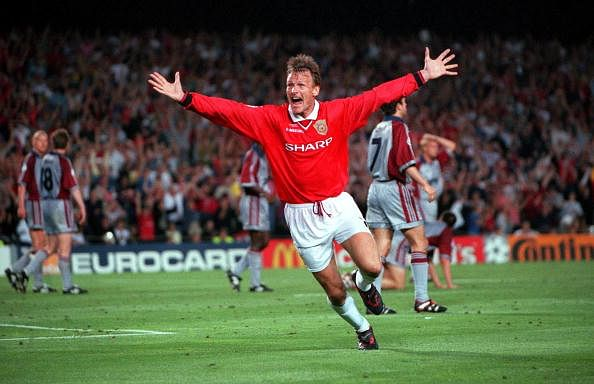 26th MAY 1999. UEFA Champions League Final. Barcelona, Spain. Manchester United 2 v Bayern Munich 1. Manchester United