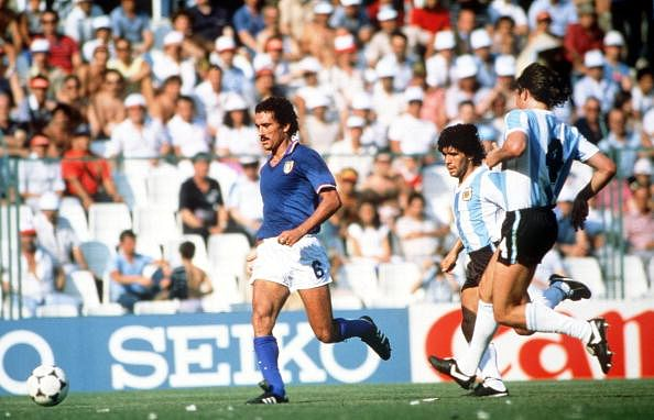 1982 World Cup Finals. Second Phase. Barcelona, Spain. 29th June, 1982. Italy 2 v Argentina 1. Italy
