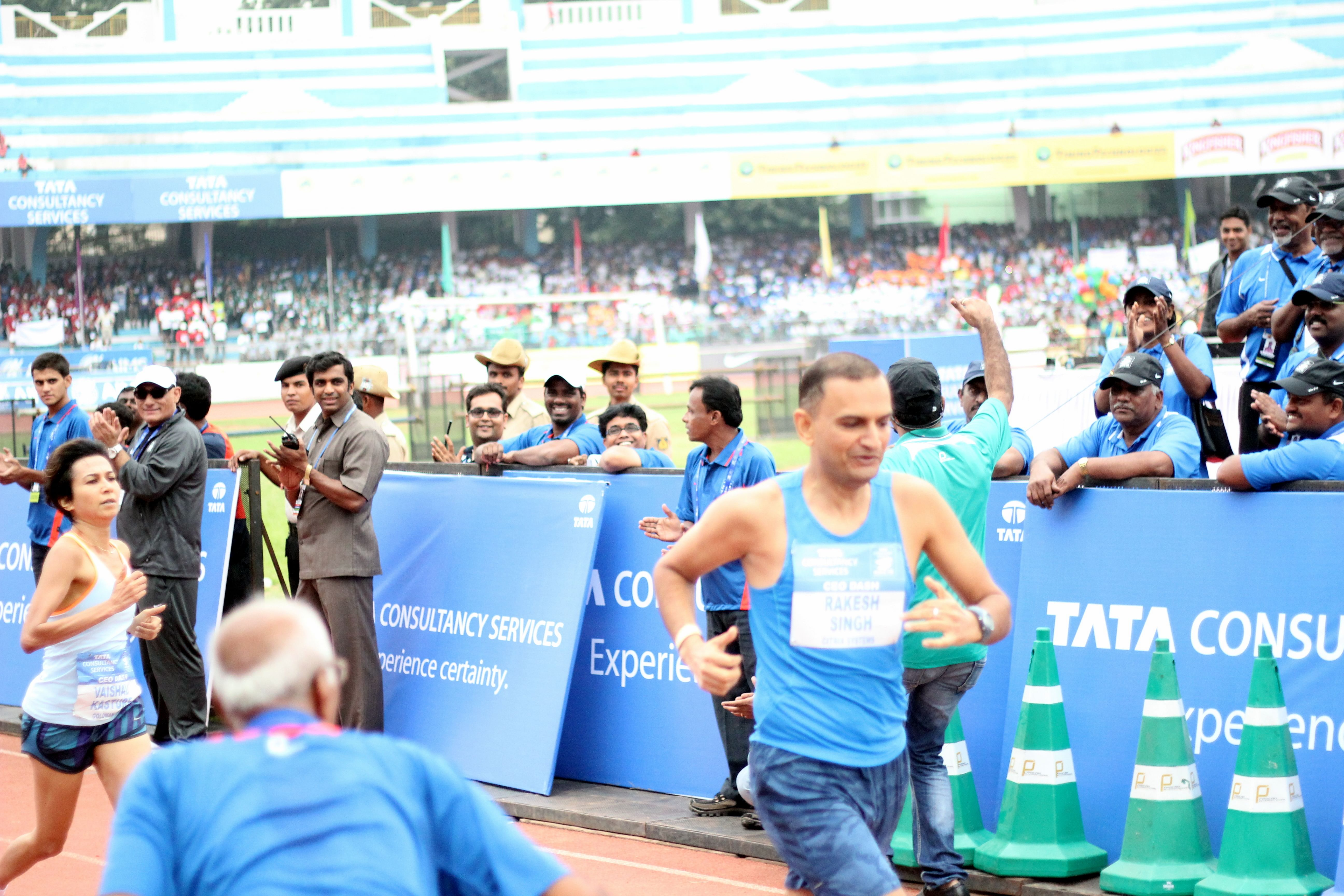 Rakesh Singh, CEO, Citrix Systems, was closely followed home by Vaishali Kasture, MD, Goldman Sachs in the CEO 400m Dash.