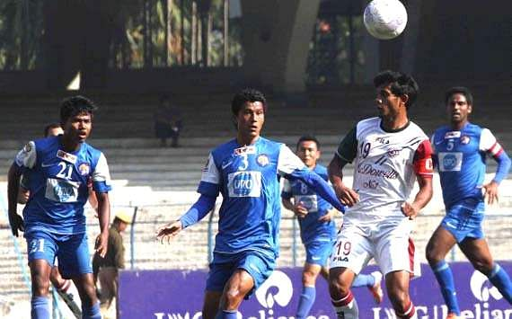 Empty stadiums and afternoon kickoffs remained an unwanted feature of the I-League  (Photo Credit: AIFF Media)