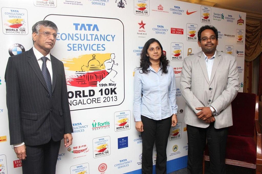 TCS World 10K - Mr. Nagraj Ijari - Vice President, TCS, Ms. Sangeetha D - Station Head, Radio Mirchi and Mr Dilip Jayaram - CEO, Procam International