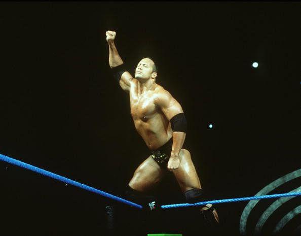 World Wrestling Federation's Wrestler Rock Poses June 12 2000 In Los Angeles Ca