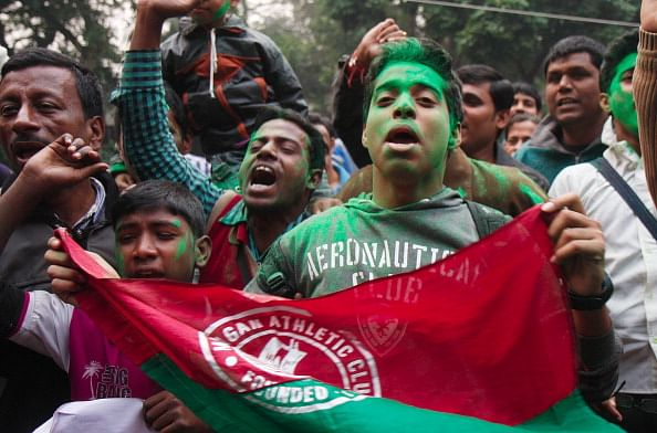 Fans Celebrate Lifting Of Ban Against Mohun Bagan Football Club