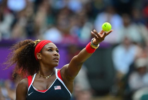 US Serena Williams serves to Russia