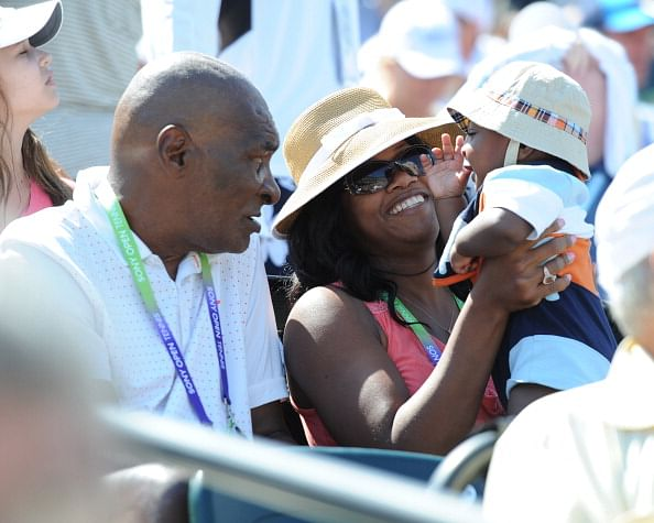 Celebrity Sighting At Sony Tennis Open 2013 - March 21, 2013