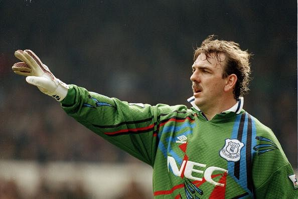 Sport. Football. pic: 9th April 1995. FA. Cup Semi-Final. Tottenham Hotspur 1 v Everton 4. Neville Southall, Everton goalkeeper 1981-1998, who also won 92 Wales international caps between 1982-1998.