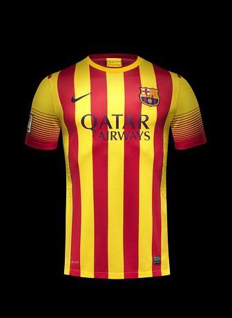 Fc Barcelona S Away Kit In Colours Of Catalan Flag