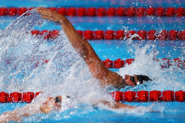 Ryan Lochte of the USA during the Swimming Men