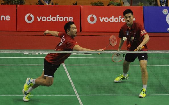 The pair of Koo Kein and Tan Boon of Delhi Smashers