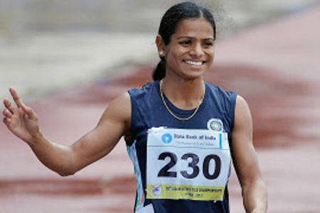 Dutee Chand, an emerging young runner from India.