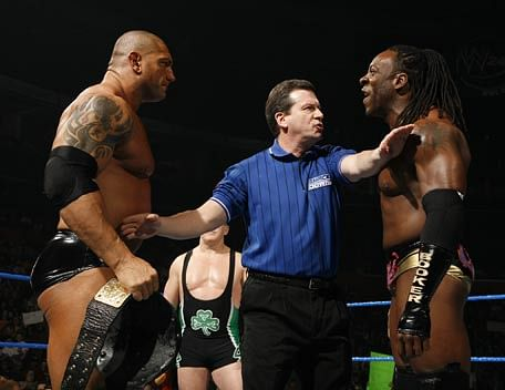 Batista and Booker T reportedly went at it outside the ring as well