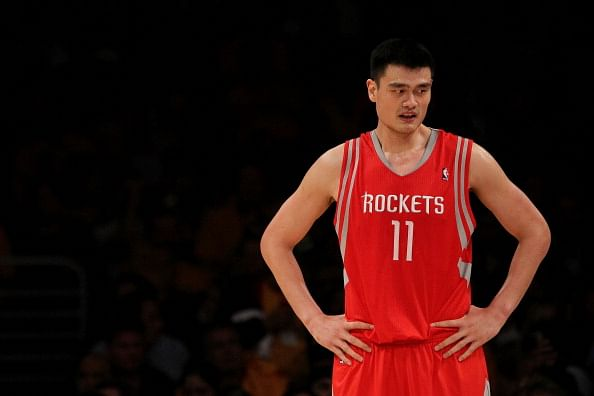 #4, at Sportskeeda's list of top 10 tallest basketball player in NBA is Yao Ming.