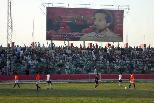 Kabul Ghazi stadium in 2007. The stadium was used for public execution during the Taliban rule.