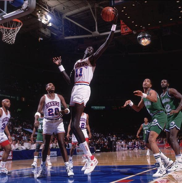 #2, at Sportskeeda's list of top 10 tallest basketball player in NBA is Manute Bol.