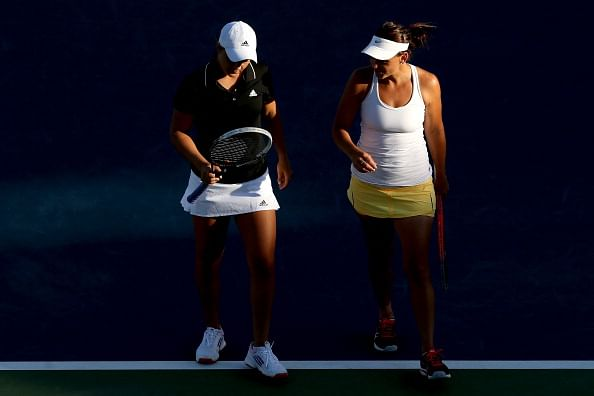 The victorious pair of Ashleigh Barty and Casey Dellacqua