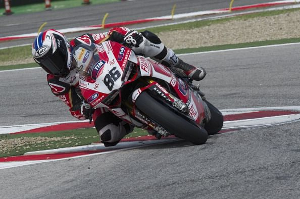 Ducati rider Ayrton Badovini
