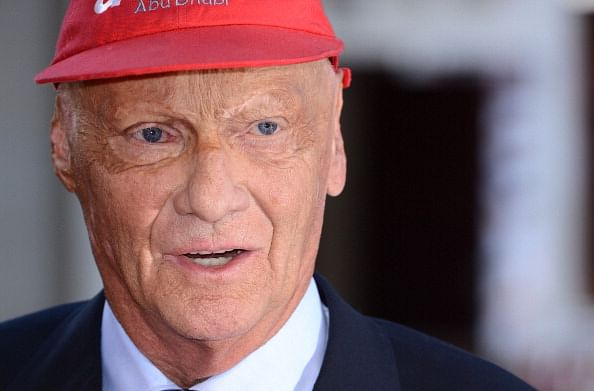 """Niki Lauda attends the World Premiere of """"Rush"""" at the Odeon Leicester Square on September 2, 2013 in London, England.  (Getty Images)"""