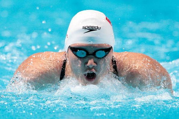 Shiwen Ye of China competes during the Swimming Women