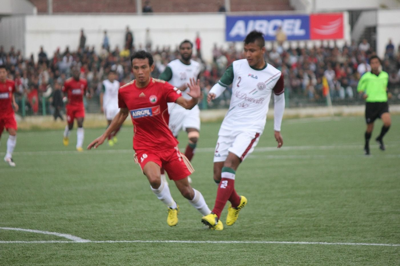 Aibor Khongjee (in white) Photo Credit: Shillong Lajong FC